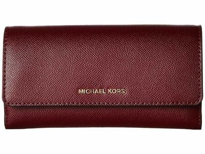 Michael Kors - Michael Michael Kors Oxblood Multi 1 Large Wallet On A Chain Clutch Bag