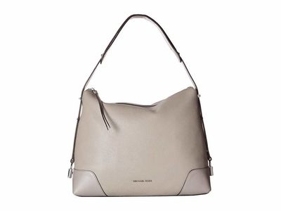 Michael Kors - Michael Michael Kors Pearl Grey Crosby Large Shoulder Tote Handbag