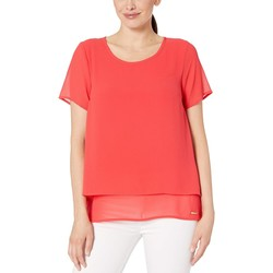 Mıchael Michael Kors Sea Coral Back Cut Out Short Sleeve Top - Thumbnail