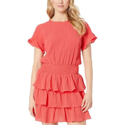 Mıchael Michael Kors Sea Coral Pucker T-Shirt Smock Dress