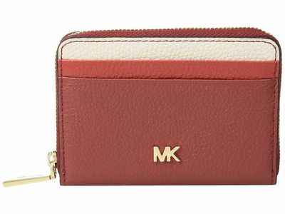 Michael Kors - Michael Michael Kors Terracotta Multi Zip Around Coin Card Case Coin Card Case
