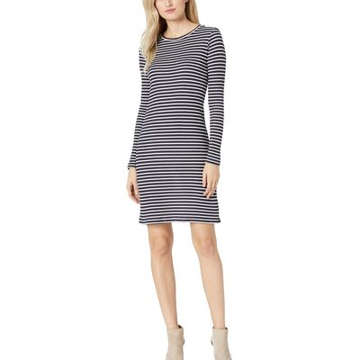 Mıchael Michael Kors - Mıchael Michael Kors True Navy/White Long Sleeve Striped Tee Dress