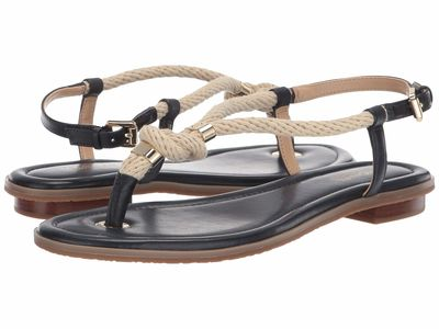 Michael Michael Kors - Michael Michael Kors Women Admiral Rope/Nappa Holly Sandal Flat Sandals