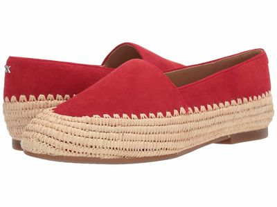 Michael Michael Kors - Michael Michael Kors Women Bright Red Bahia Slip-On Loafers