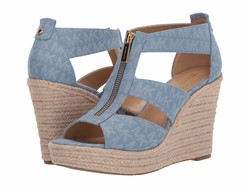 Michael Michael Kors Women Denim Damita Wedge Heeled Sandals - Thumbnail
