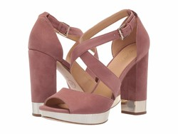 Michael Michael Kors Women Dusty Rose Valerie Platform Heeled Sandals - Thumbnail