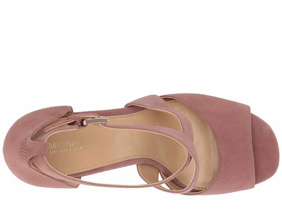 Michael Michael Kors Women Dusty Rose Valerie Platform Heeled Sandals
