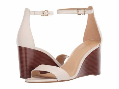 Michael Michael Kors - Michael Michael Kors Women Light Cream Fiona Wedge Heeled Sandals