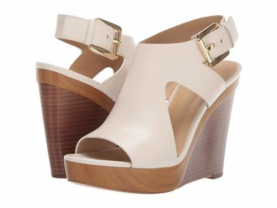 Michael Michael Kors - Michael Michael Kors Women Light Cream Josephine Wedge Heeled Sandals