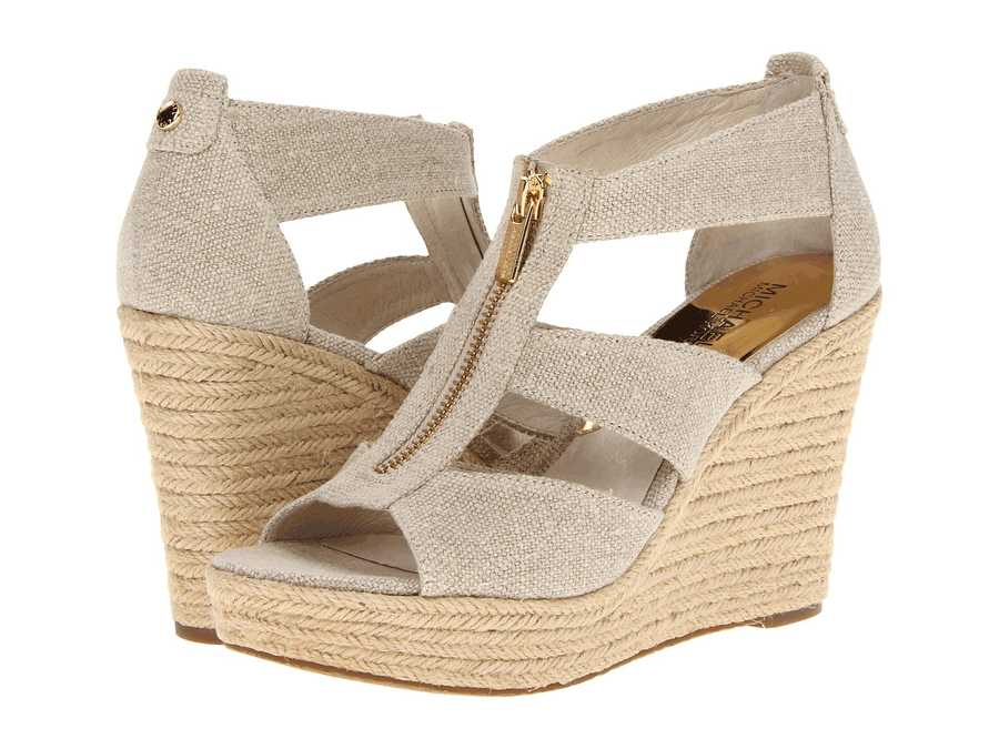 Michael Michael Kors Women Natural Hemp Damita Wedge Heeled Sandals