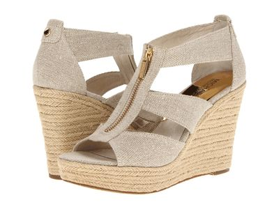 Michael Michael Kors - Michael Michael Kors Women Natural Hemp Damita Wedge Heeled Sandals