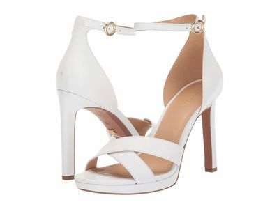 Michael Michael Kors - Michael Michael Kors Women Optic White Alexia Sandal Heeled Sandals