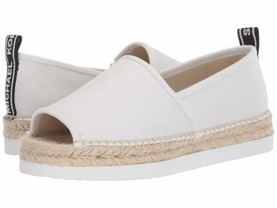 Michael Michael Kors - Michael Michael Kors Women Optic White Hastings Open Toe Flat Sandals