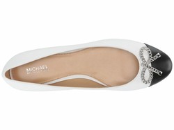 Michael Michael Kors Women Optic White Posey Ballet Flats - Thumbnail