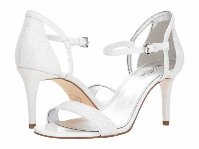 Michael Kors - MICHAEL Michael Kors Women's Optic White Simone Mid Sandal Heeled Sandals