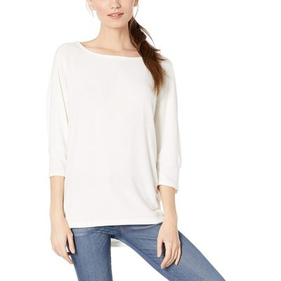 Michael Stars - Michael Stars Chalk Brielle Madison Brushed Jersey Super Soft Cocoon Top