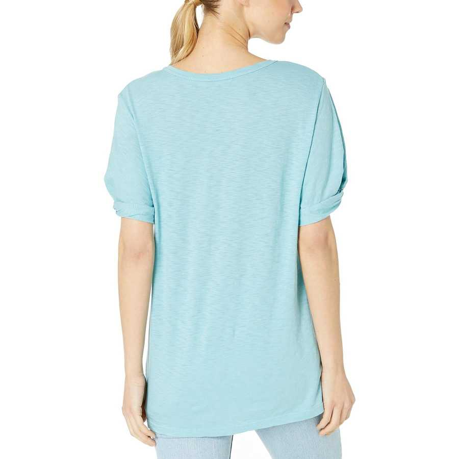 Michael Stars Echo Supima Cotton Slub Victoria Knotted Sleeve Tee