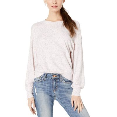 Michael Stars - Michael Stars Heather Whisper Gigi Madison Brushed Jersey Long Sleeve Crew Neck Pullover