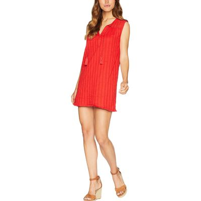 Michael Stars - Michael Stars Salsa Braided Stripe With Lace Mix Shift Dress