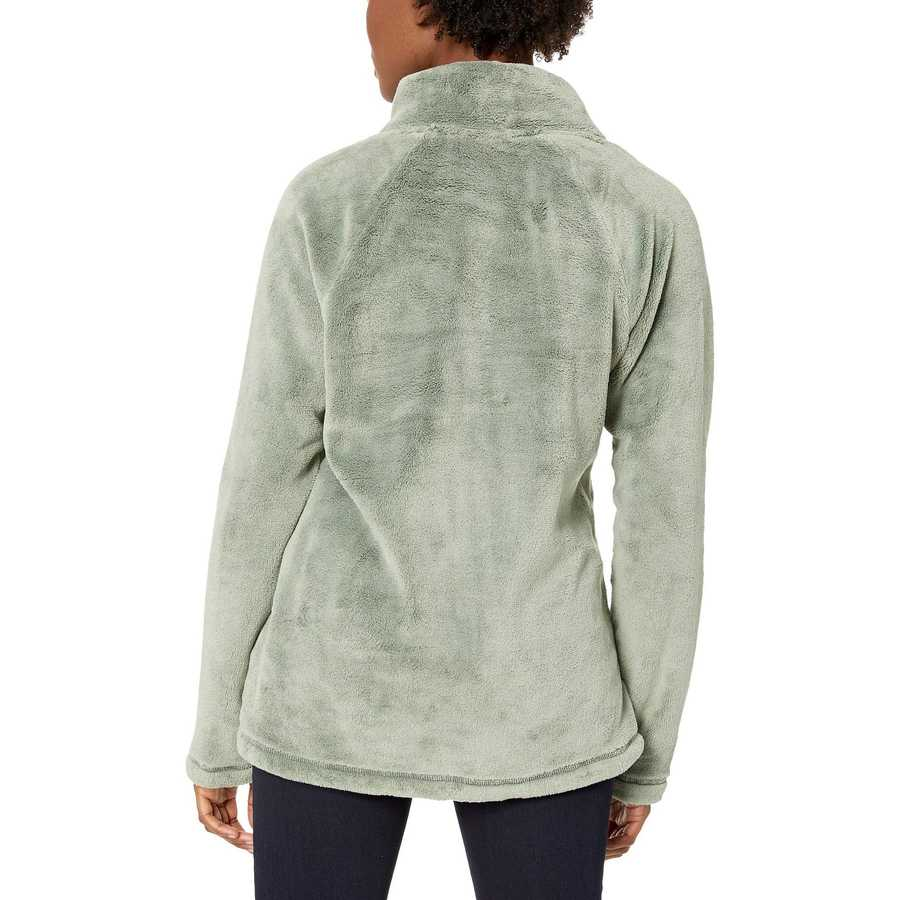Mod-O-Doc Dusty Sage Plush Faux Sherpa Buttoned Funnel Neck Pullover