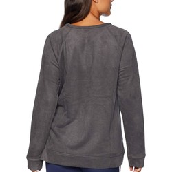 Mod-O-Doc Grey Truly Sueded French Terry Raglan Sleeve Pullover With Side Slit Detail - Thumbnail