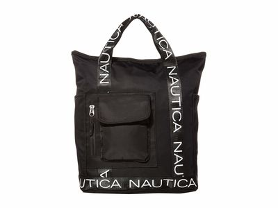 Nautica - Nautica Black/Black Bean Bag Convertible Backpack