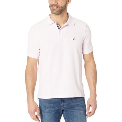 Nautica Cradle Pink Short Sleeve Solid Performance Deck Polo