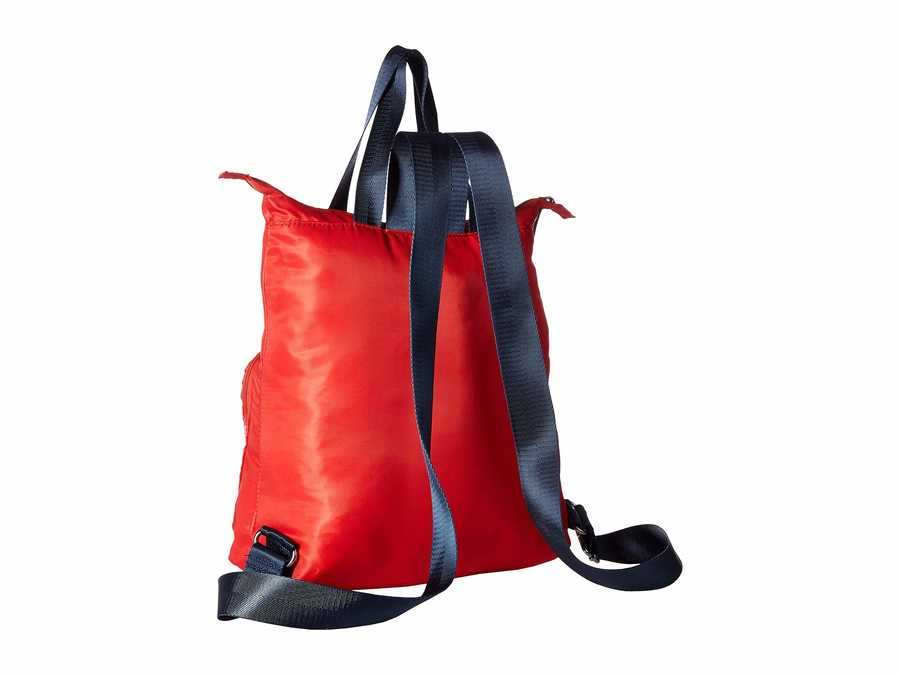 Nautica Electric Red New Tack Diagonal Quilt Backpack