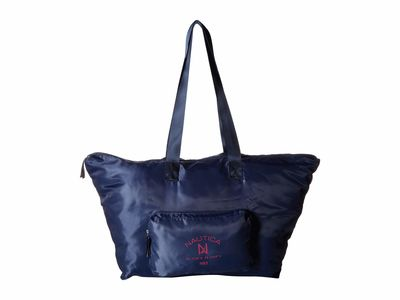 Nautica - Nautica Navy Logo Pocket Large Tote Handbag