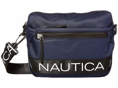 Nautica - Nautica Navy/Black Bean Bag Cross Body Bag