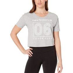 New Balance Athletic Grey Essential Crop Tee - Thumbnail