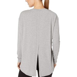 New Balance Athletic Grey Studio Relaxed Long Sleeve - Thumbnail