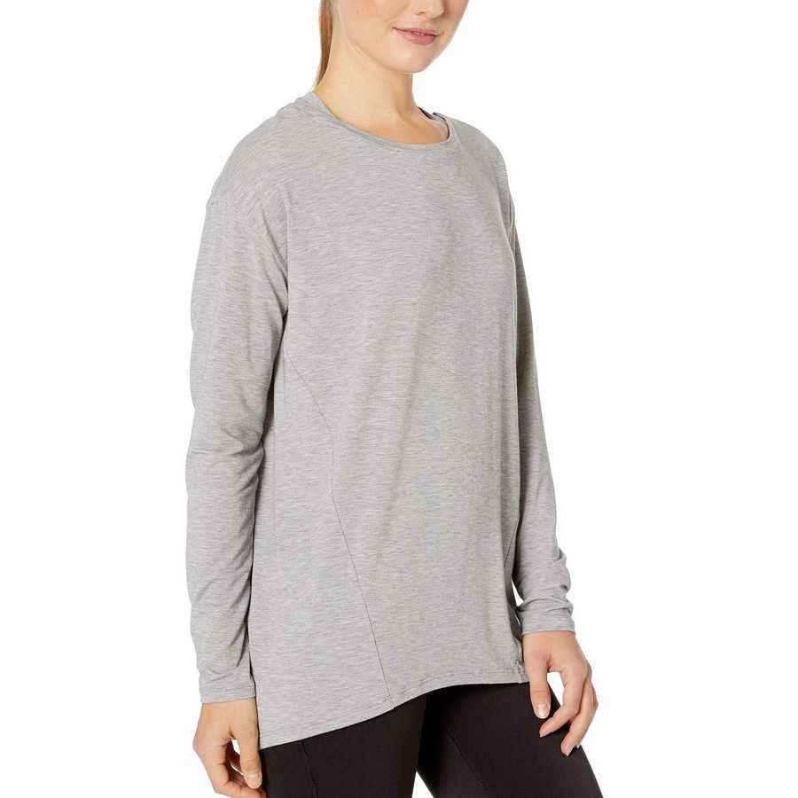 New Balance Athletic Grey Studio Relaxed Long Sleeve