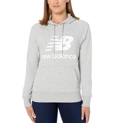 New Balance - New Balance Athletic Grey/White Essentials Pullover Hoodie