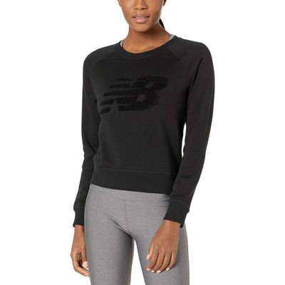 New Balance - New Balance Black Chenille Brushed Crew Top