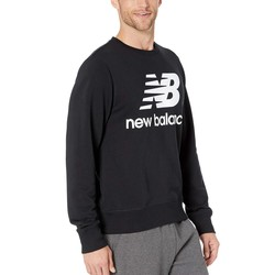 New Balance Black Essentials Stacked Logo Crew - Thumbnail