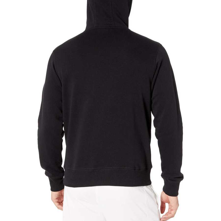 New Balance Black Essentials Stacked Logo Pullover Hoodie