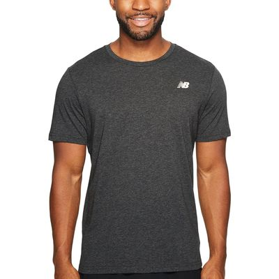 New Balance Black Heather Heather Tech Short Sleeve