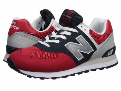 New Balance Classics - New Balance Classics Men Team Red/Pigment 574V2-Usa Lifestyle Sneakers