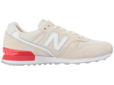 New Balance - New Balance Classics Women's Beige/Energy Red WL696 Sneakers Athletic Shoes 8469067703974