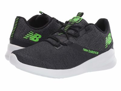 New Balance - New Balance Men Black/Rgb Green Cush+ District Run Running Shoes