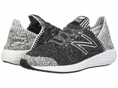 New Balance - New Balance Men Black/White Fresh Foam Cruz V2 Sock Fit Running Shoes