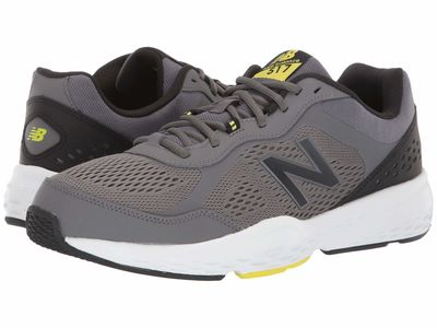 New Balance - New Balance Men Castlerock/Sulphur Yellow 517V2 Running Shoes