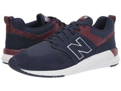 New Balance - New Balance Men Pigment/Nb Burgundy Synthetic Suede/Mesh 009 Modern Classic Running Shoes