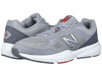 New Balance - New Balance Men Steel/Red 517V2 Running Shoes