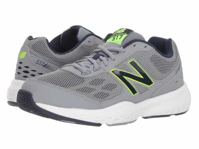 New Balance - New Balance Men's Grey Energy Lime 517v1 Athletic Shoes