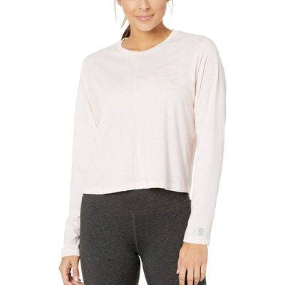 New Balance - New Balance Pink Mist Heather Relentless Long Sleeve
