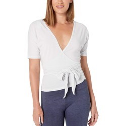 New Balance Sea Salt Heather Balance Two-Way Wrap Top - Thumbnail