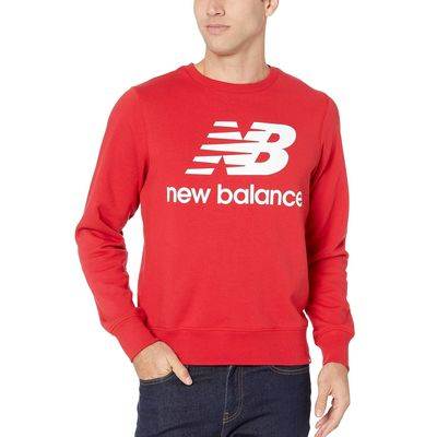 New Balance Team Red Essentials Stacked Logo Crew