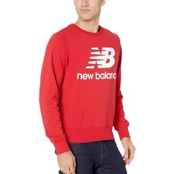 New Balance Team Red Essentials Stacked Logo Crew - Thumbnail